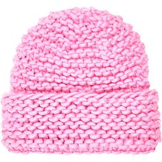 Pink super chunky knit beanie hat £7.00
