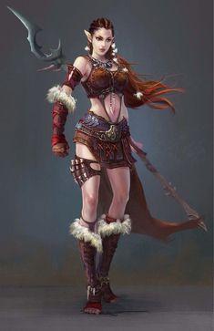 f High Elf Barbarian Glaive lg Fantasy Female Warrior, Warrior Girl, Fantasy Women, Fantasy Girl, Warrior Princess, Elf Warrior, Female Character Concept, Character Art, Character Inspiration