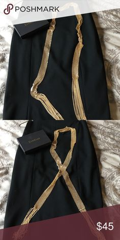New Bebe Gold Chain Necklace This necklace is absolutely gorgeous!!! It can be worn so many different ways!! Choker, tied in back, wear it as a tie with a blouse! 🎁🎁🎁 bebe Jewelry Necklaces