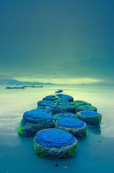 Dawn in Bali ~ Blue beach, Indonesia http://exploretraveler.com http://exploretraveler.net