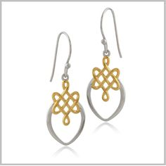 Eternity Knot Marquis Earrings