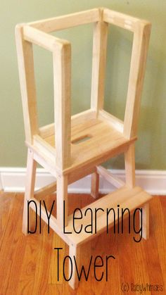 diy learning tower stool