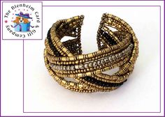 Pretty beaded cuff bracelet.  £5 plus postage.