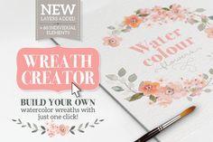 Watercolour Wreath Creator - Illustrations