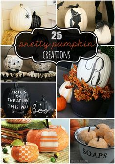 25 Pretty Pumpkin Creations - a collection of super cute pumpkin decorations and crafts!! { lilluna.com }