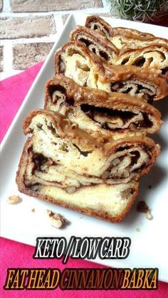 FAT HEAD CINNAMON BABKA WITH CINNAMON GLAZE – Keto, Low Carb, Gluten Free, Sugar Free After posting the Fat Head Chocolate Babka video on my Facebook page for the second time, one of m…