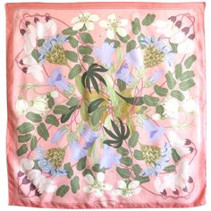 HERMES PARIS 'Flora Graeca' by Niki Goulandris Silk Scarf | From a collection of rare vintage scarves at https://www.1stdibs.com/fashion/accessories/scarves/