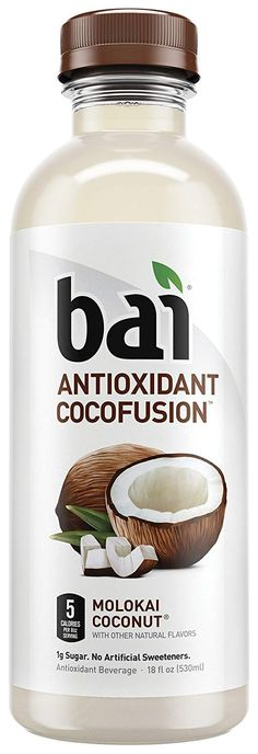 Bai Coconut Flavored Water, Molokai Coconut, Antioxidant Infused Drinks, 18 Fluid Ounce Bottles, 12 count Source by chatbatman Raspberry Tea, Delicious Fruit, Malu, Coconut Water, Coconut Drinks, Coconut Oil, Natural Flavors, Drinking Tea, Healthy Drinks