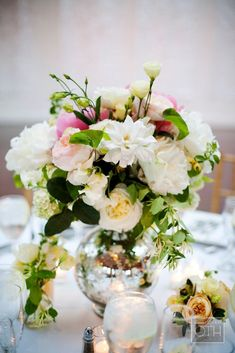 Daily Wedding Flower Ideas (New!). To see more: http://www.modwedding.com/2014/08/01/daily-wedding-flower-ideas-new/ #weddings #wedding #centerpiece #reception #bouquet Featured Floral Design: Seaport Flowers; Featured Photographer: Christian Oath Studio
