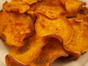 Honey BBQ Sweet Potato Chips...good template for heathy organic chips when you get that crispy chip craving