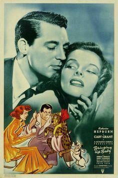 Bringing Up Baby,Cary Grant & Katharine Hepburn.