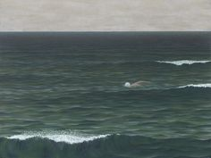 """blue-voids: """" Alex Colville - Swimmer, 1962 """""""