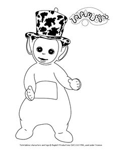 colour in dipsy - Teletubbies Dipsy Coloring Pages