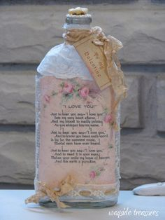 Wayside Treasures: Love of vintage maps and altered bottles ~