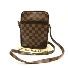 Louis Vuitton Danube Damier Ebene Cross body bags Brown Canvas N48063