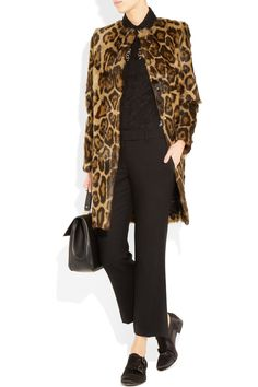 The Row - Grentin animal-print goat hair coat Herve Leger, My Wardrobe, Autumn Winter Fashion, Goat, All Black, The Row, Fashion Forward, Fashion Brands, Fashion Outfits