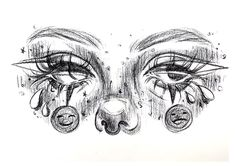 Cool Art Drawings, Pencil Art Drawings, Art Drawings Sketches, Easy Drawings, Unique Drawings, Horse Drawings, Cartoon Drawings, Animal Drawings, Drawing Eyes