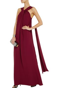 RaoulDraped silk-crepe gown