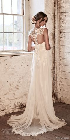 anna campbell 2018 bridal cap sleeves sweetheart neckline heavily embellished bodice tulle skirt soft a  line wedding dress lace rasor back sweep train (12) bv -- Anna Campbell 2018 Wedding Dresses