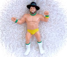 Vintage 1987 WWF LJN Rubber wrestler figure Billy Jack Haynes WITH his extremely rare hat! In fantastic vintage condition with only VERY minor marks/smudges and/or paint rubs! A fantastic display wrestler!  Please see all pictures up close for thorough representation!  I have TONS more vintage items for sale in my Etsy shop, including many wrestlers - check it out for super cheap shipping discounts! (nearly free!)  I ship WORLDWIDE from a clean, pet & smoke-free home! Please note that…