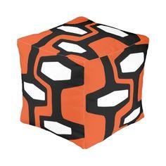 Retro Architecture - pouf/ottoman cube