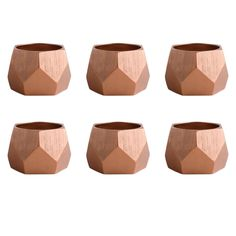 Copper Triangle Band Napkin Ring Set/6