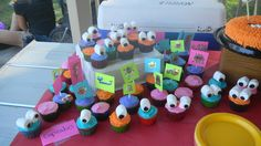 Cupcakes at a Monster Party #monster #partycupcakes