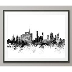 Milan Skyline, Milan Italy Cityscape Art Print (1506) ($15) ❤ liked on Polyvore featuring home, home decor, wall art, accent, filler, skyline wall art, italian wall art, cityscape wall art and italian home decor