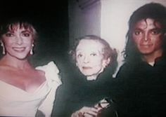 MJ and world famous actresses Elizabeth Taylor and Bette Davis attend Elizabeth Taylor's 55th Birthday Party at Burt Bacharach's Home in Beverly Hills, February 28 1987