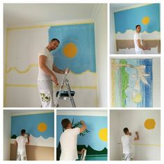 wall art paint step by step. DIY.