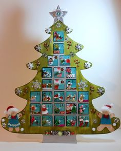 Personalized Wooden Christmas Advent Calendar by AuriesDesigns #advent #countdowntochristmas