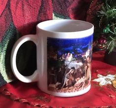 NATIVITY SCENE Hand-decorated Coffee Mug