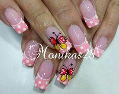 Colorful Nail Designs, Toe Nail Designs, Pretty Nail Art, Cool Nail Art, French Nail Art, Toe Nails, How To Do Nails, Summer Nails, Girly Things