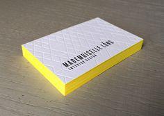 Print : Badcass - Carte de visite en letterpress - #débossage #pantone