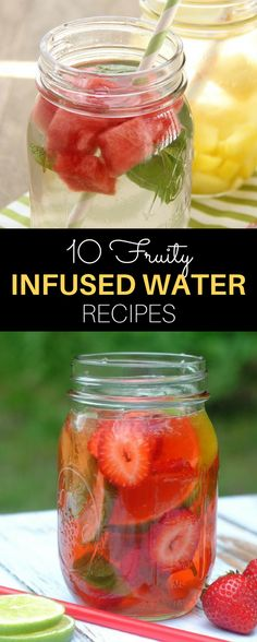 Hydrate deliciously this summer! These fruity infused water recipes are chock full of good-for-you ingredients that make keeping cool easy in the warmer months. // spryliving.com