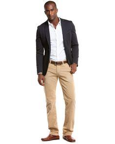 D Men's Beige Corduroy Pant