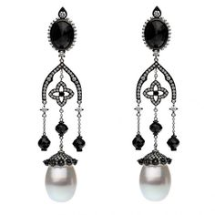 Edgy, black and white earrings by Autore