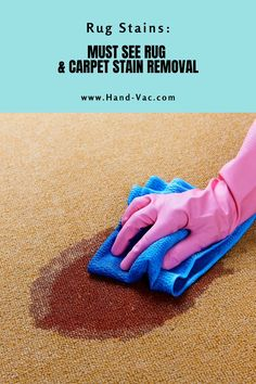 Rug and carpet stain removal ideas, tips and tricks. Once you read the article, you will better understand how to get rid of your stains. Stain Remover Carpet, Removing Carpet, Carpet Stains, Cleaning Hacks, Rugs On Carpet, Ideas, Thoughts