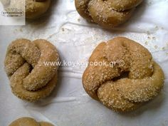 Greek Cookies, Cupcake Cookies, Sweets Recipes, Cookie Recipes, Desserts, Cake Bars, My Cookbook, Greek Recipes, Food To Make