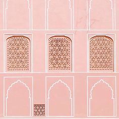 Two there are who are never satisfied--the lover of the world and the lover of knowledge. - Rumi // In a gypset state of mind, always. ☁️ Jaipur, India via India Architecture, Architecture Details, Colour Architecture, Art Wall Kids, Art For Kids, Wall Art, Jaipur India, India Colors, Colour Pallete