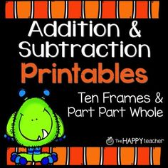Addition and Subtraction Printables {FREE} Fall & Halloween Worksheets Subtraction With Borrowing, Addition And Subtraction Worksheets, 1st Grade Math, Kindergarten Math, Grade 1, Second Grade, Monster Theme Classroom, Classroom Ideas, Math Story Problems