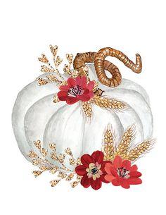 Fall Printable Art Autumn Art Pumpkin Still Life by WhatEveryday Fall Pumpkins, Halloween Pumpkins, Fall Halloween, Autumn Painting, Autumn Art, Fall Clip Art, Hallowen Ideas, Fall Patterns, Paint And Sip