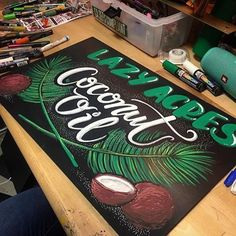 """93 Likes, 4 Comments - Lazy Acres Market Encinitas (@lazyacresmarket_encinitas) on Instagram: """"We are pretty sure our chalk artist is cooler than your chalk artist 😎 check out her insta…"""""""