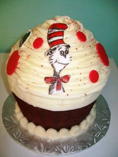"""""""Cat in the Hat"""" cupcake by Grace & Shelly's"""