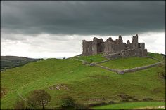 Carreg Cennen Castle (Castell Carreg Cennen) is a castle near the River Cennen, in the village of Trapp, four miles south of Llandeilo in Carmarthenshire, Wales. It has been in a ruinous state since 1462.