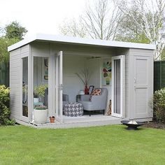 12 x 8 Waltons Contemporary Summerhouse mit Side Shed ., 12 x 8 Waltons Contemporary Summerhouse mit Side Shed When old around notion, your pergola have been going through a current rebirth most of these days. Shed Office, Backyard Office, Backyard Sheds, Backyard Patio, Backyard Studio, Outdoor Office, Garden Sheds Uk, Backyard Playhouse, Garden Gazebo
