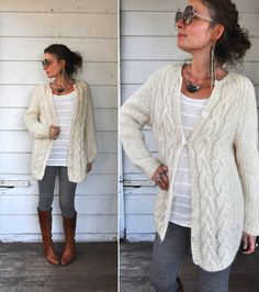 SALE Chunky Cable Hand Knitted Wool Sweater by LaDeaDeiSogni
