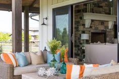 Famrhouse Patio. Farmhouse home patio with board and batten exterior. #FamrhousePatio #Famrhouse #Patio famrhouse-patio Restyle Design, LLC.