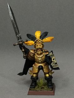 Warhammer Fantasy Empire General inspired by the Knights of the Blazing Sun from Warhammer Online.