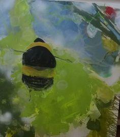 """EvaSchlitzer """"It's springtime"""", 100 x 80 cm, Acryl auf Leinen"""